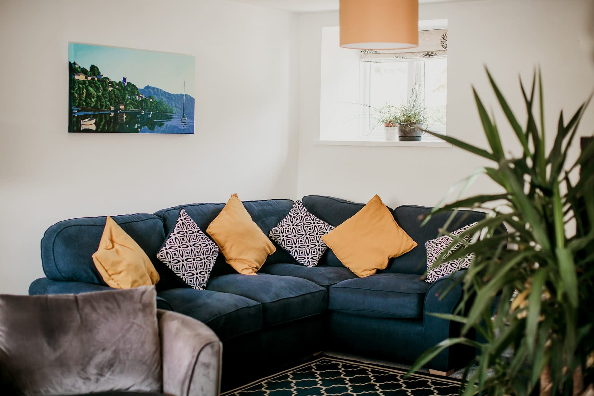 Living Room on the 1st floor- Holiday Cottages Noss Mayo