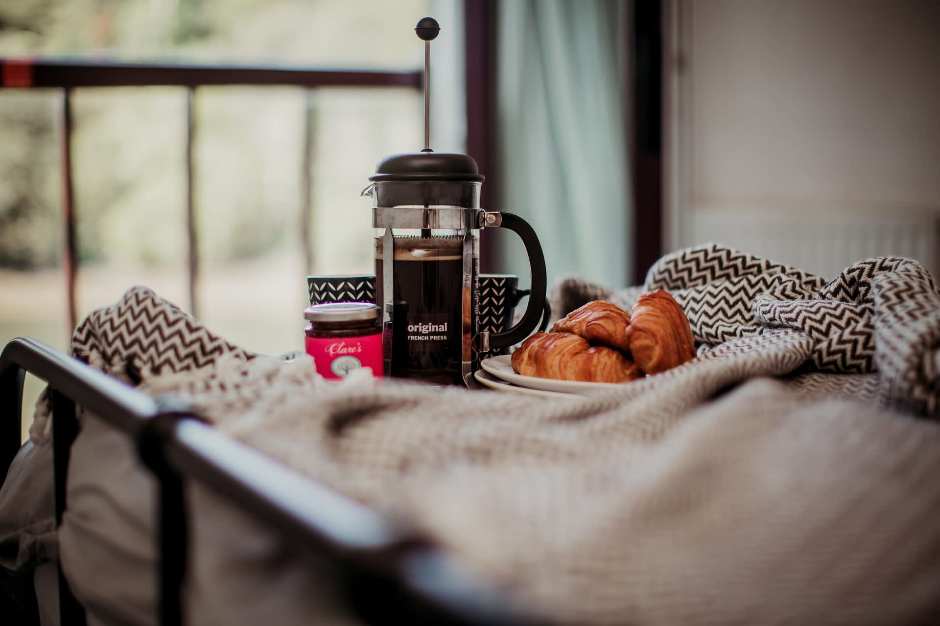 Breakfast in bed - The Coaster- Holiday Cottages Noss Mayo