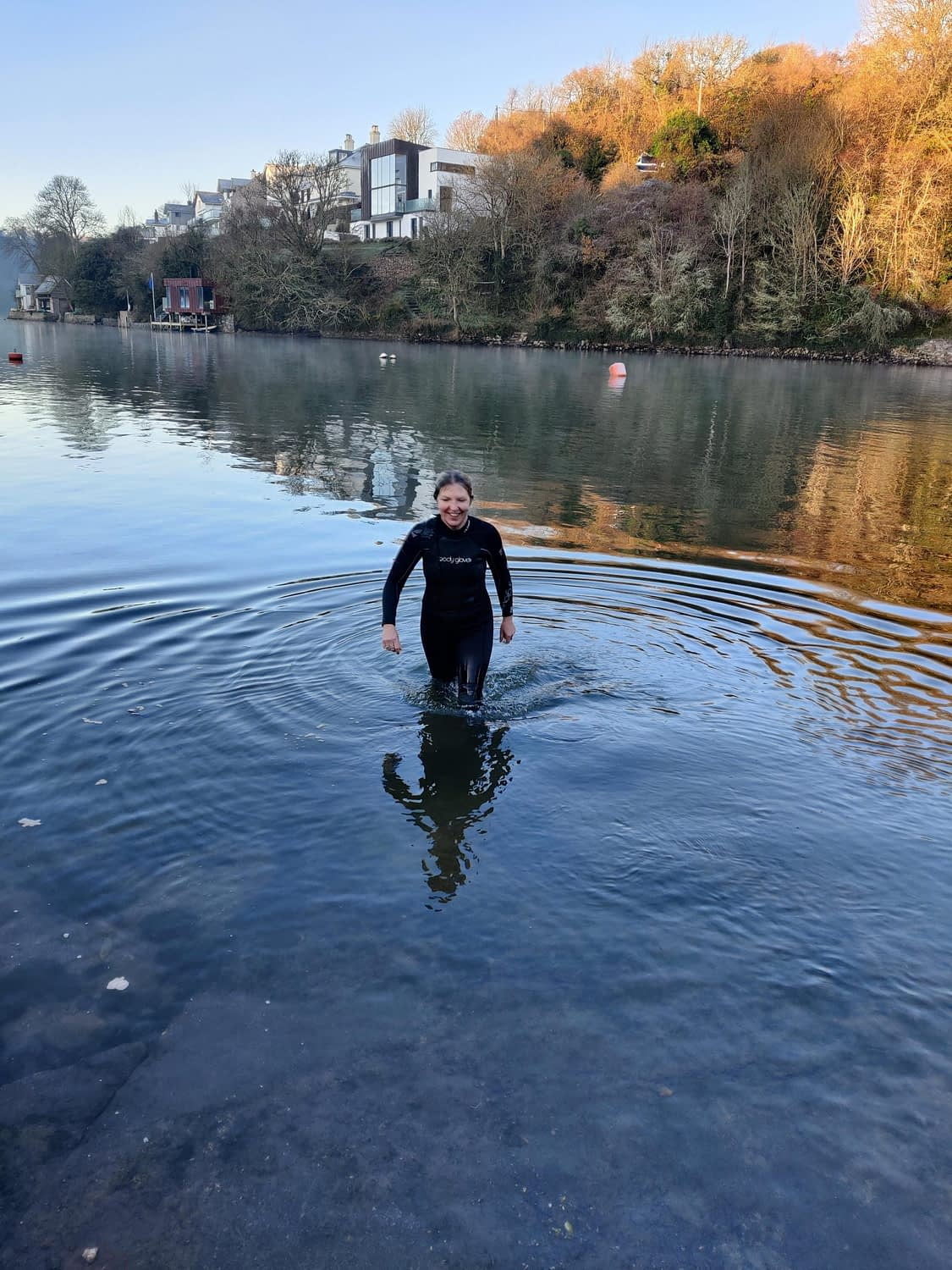 Wild Swimming at Anchor Cottage - Winter 2020 ready for a hot chocolate